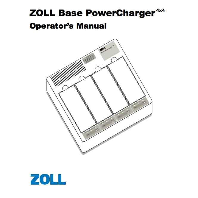 Zoll Base Powercharger Operator's Manual