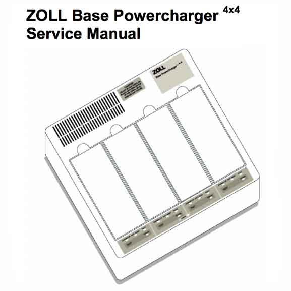 Zoll Base Powercharger Service Manual