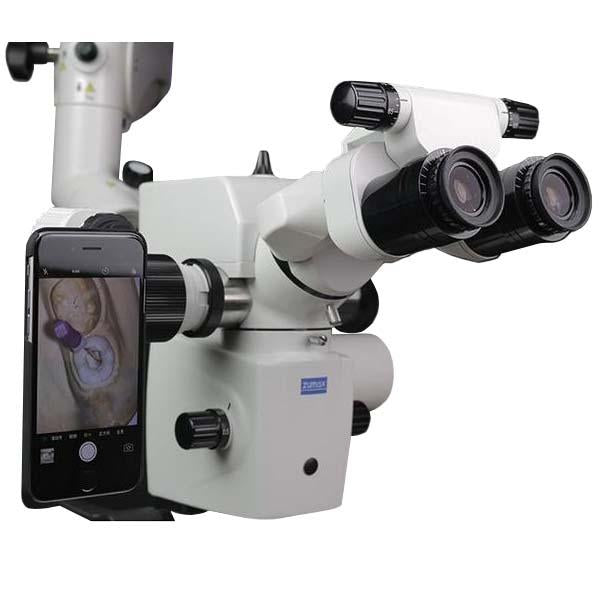 Zumax Easy360 Plus Mobile Phone Adapter - Mounted on Microscope