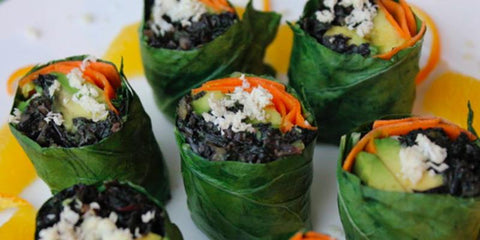 A Teadora Favorite - Collard Roll Ups with Coconut Curry Kale