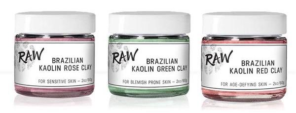 brazilian red clay green clay rose clay