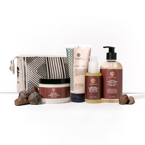 natural anti-aging skincare products with gift bag
