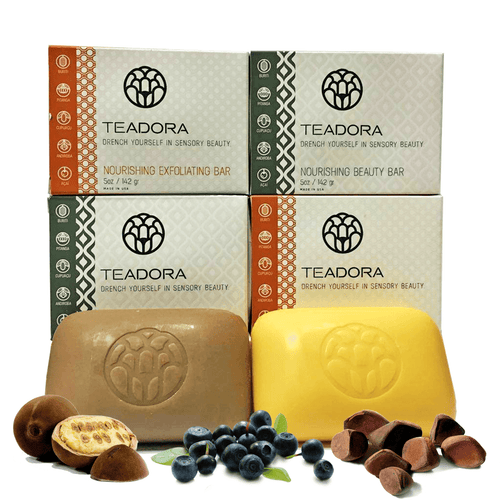 Brazilian Rainforest Vegan Soap | Exfoliating Clay & Toning Bars Set