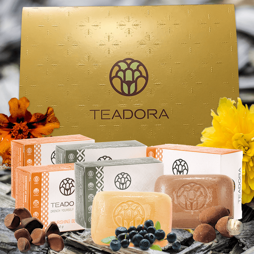 Brazilian Rainforest Vegan Soap | Exfoliating Clay & Toning Bars Set - Teadora