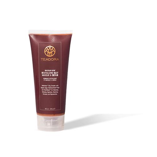 Brazilian Glow Red Clay Salt Scrub - Teadora