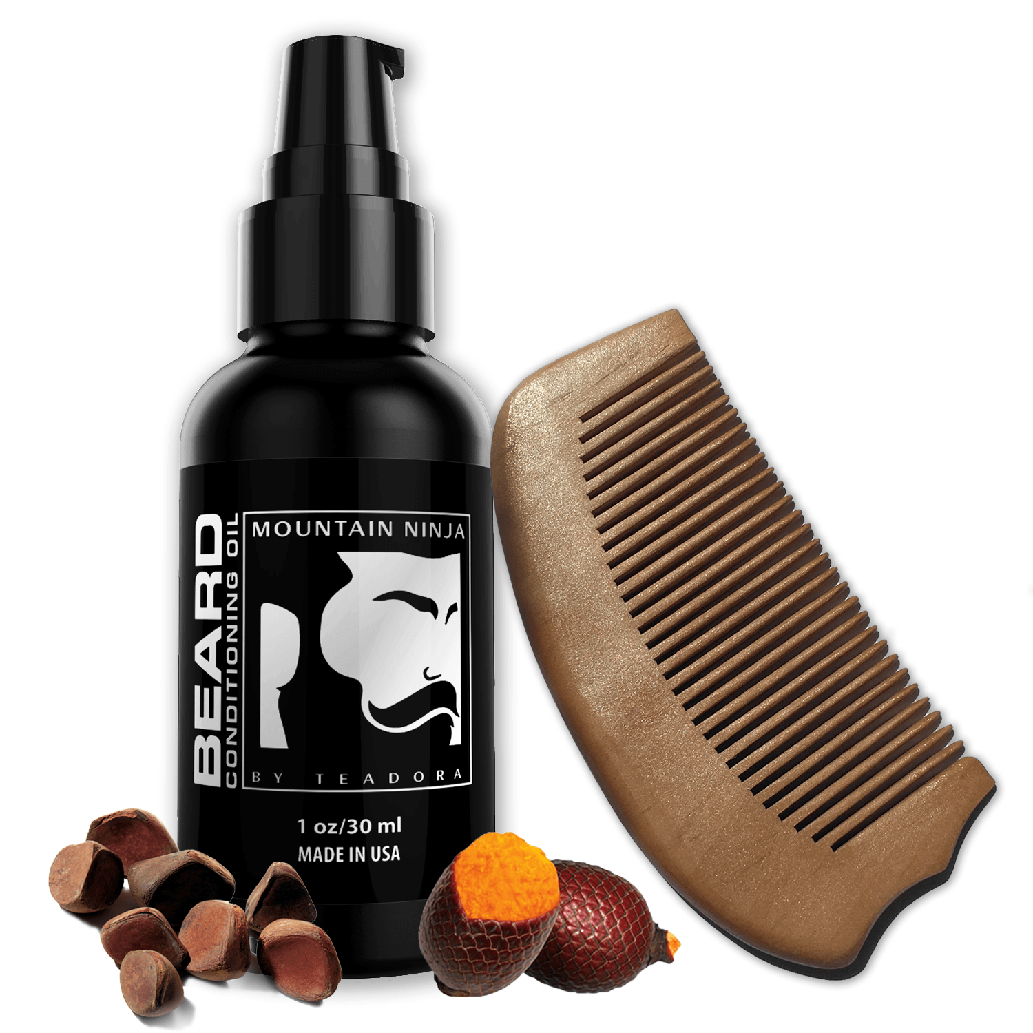 Beard Oil & Beard Comb Set - Teadora