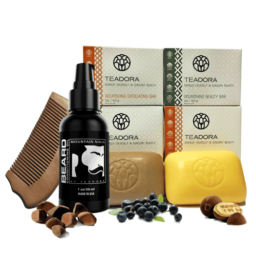 Men's Grooming Kit - Keep your beard, mustache and face healthy and looking great! Naturally-powered with high-antioxidant superfruit oils sustainably harvested from the Amazon rainforest to condition and soften beard hair and protect against free-radical damage, leaving your skin hydrated and smooth. Bonus wooden beard comb gently smoothes beard hair and reduces snarls.