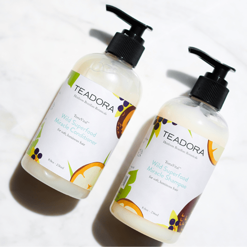 Wild Superfood Miracle Shampoo & Conditioner Set - Teadora