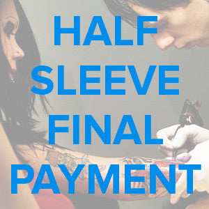 Half Sleeve Tattoo Design Final Payment