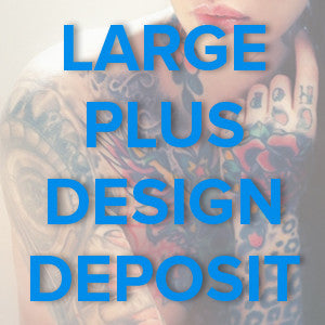 Large Plus Tattoo Design Deposit