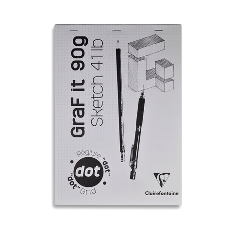 Clairefontaine Graf It Bloc pointillé 90g A4 • Dot Pad 41lb [96691]