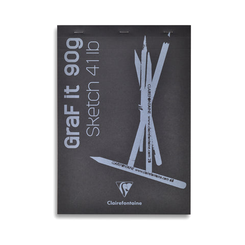 Clairefontaine Graf It Bloc 90g A4 • Sketch Pad 41lb [96623]