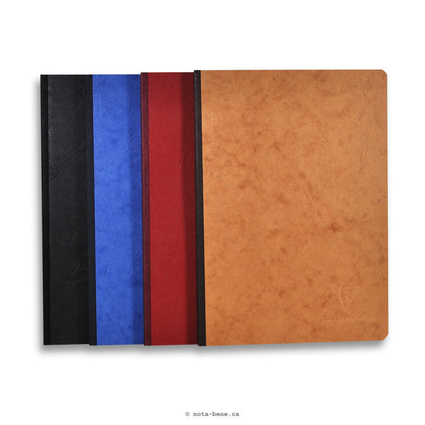 Clairefontaine Cahier Age Bag Toilé A4 Uni • Notebook Clothbound A4 Blank [79140C]