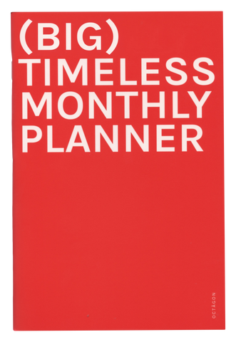 OCTAGON Agenda perpétuel (BIG) MONTHLY PLANNER TIMELESS A4