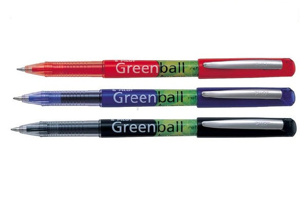 PILOT Stylo Bille Roullant Rechargeable Greenball 0.7 [BG-BLGRB7..]