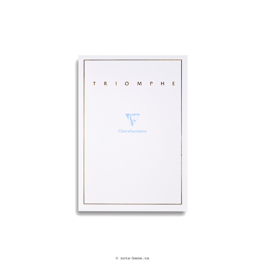 Clairefontaine Bloc Correspondance Triomphe A5 Uni • Blank Sheets [6120]