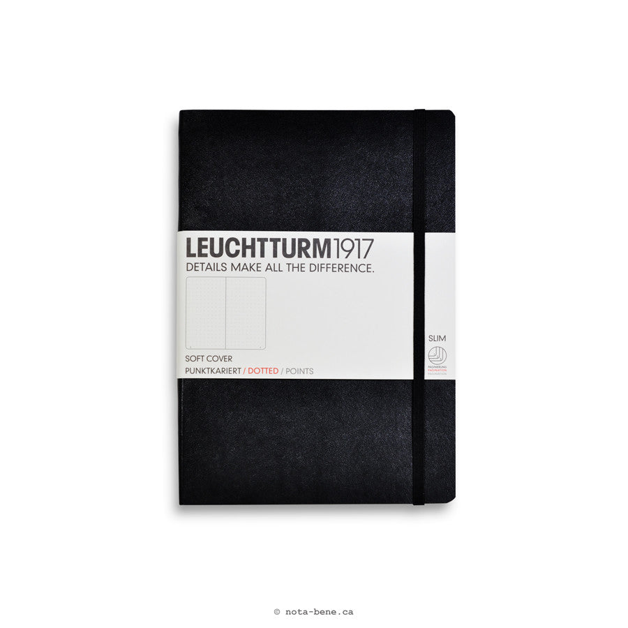 Leuchtturm 1917 Journal moyen souple à points• Med Soft Cover Black Dotted [324804]