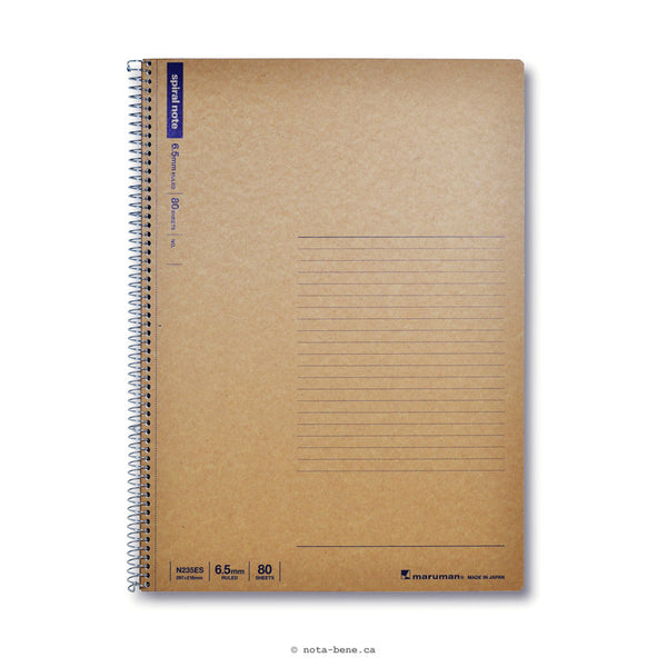 Maruman Cahier Spiral Note A4 Ligné • Notebook Spiral Note A4 Lined [N235ES]