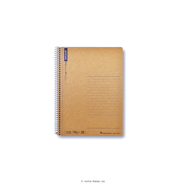 Maruman Cahier Spiral Note A5 Ligné • Notebook Spiral Note A5 Lined [N237ES]