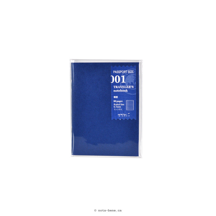 Midori Traveler's Notebook 001 Cahier Ligné Passeport • Lined Notebook [14368006]