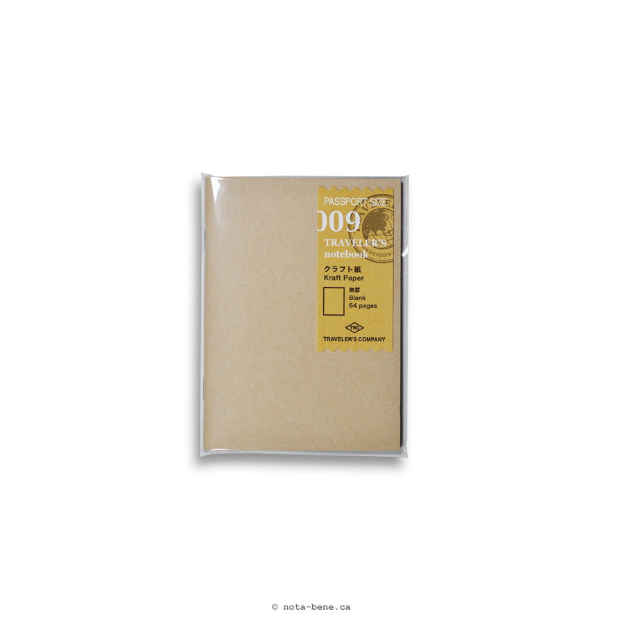 Midori Traveler's Notebook 009 Papier Kraft • Kraft paper [14373006] (format passport)