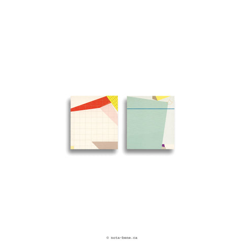 Paperways Blocs-notes de feuillets autocollants Gluememo Duo (Collage Edition)
