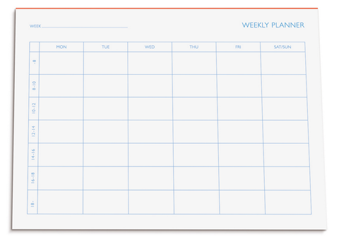 type.MANUFAKTUR Bloc Planification Hebdomadaire A5 • Weekly Planning Pad [602]