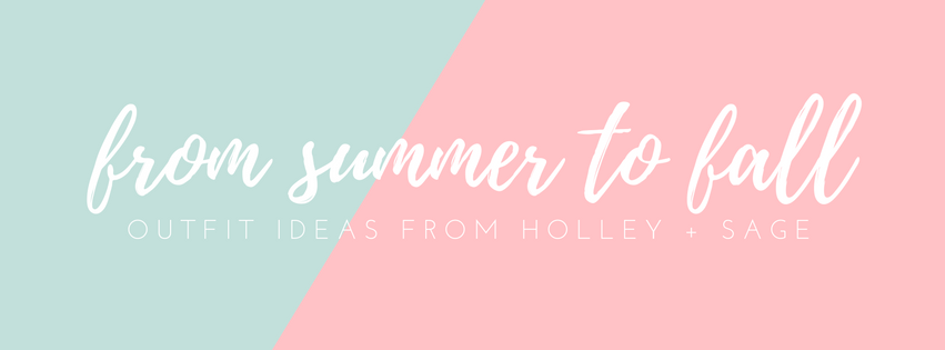 From Summer to Fall - Ideas for making Summer pieces work into Fall!