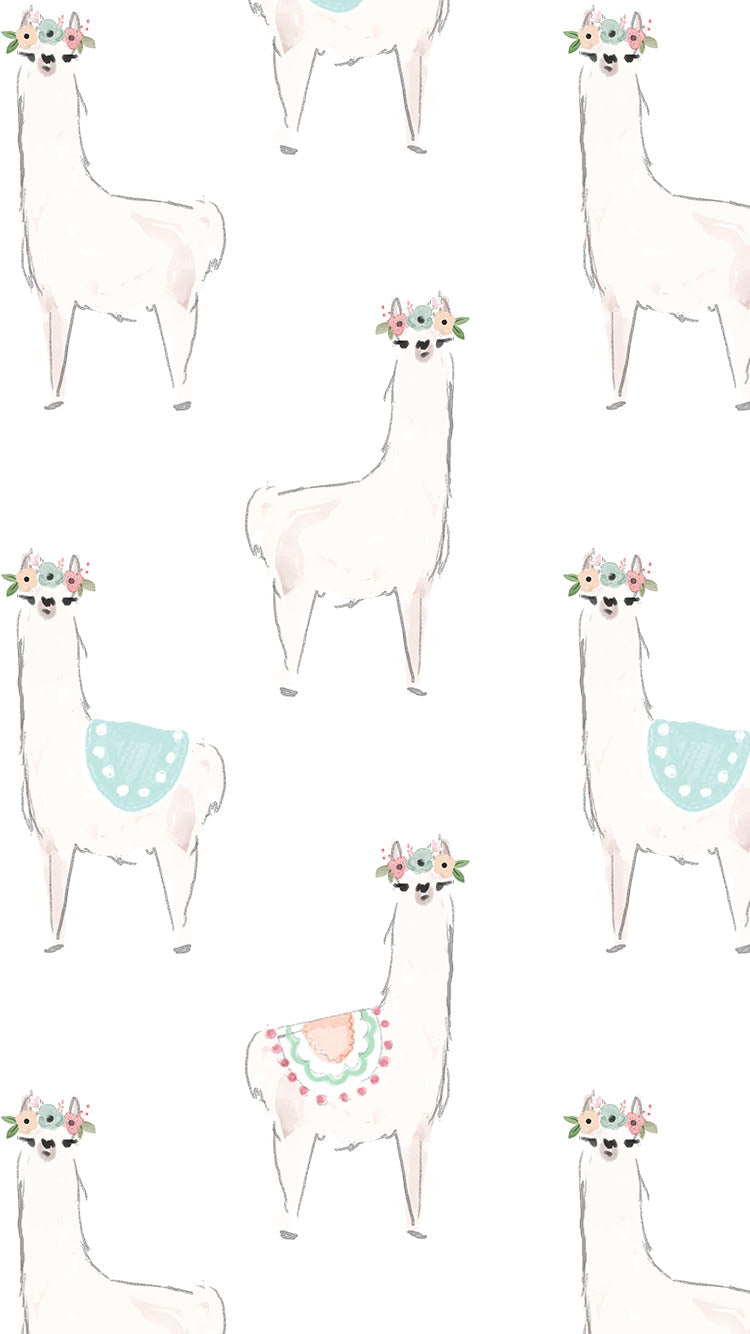 llama iphone background