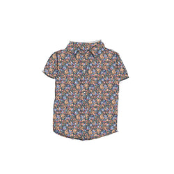 Fall Floral - Boy Button Up Shirt