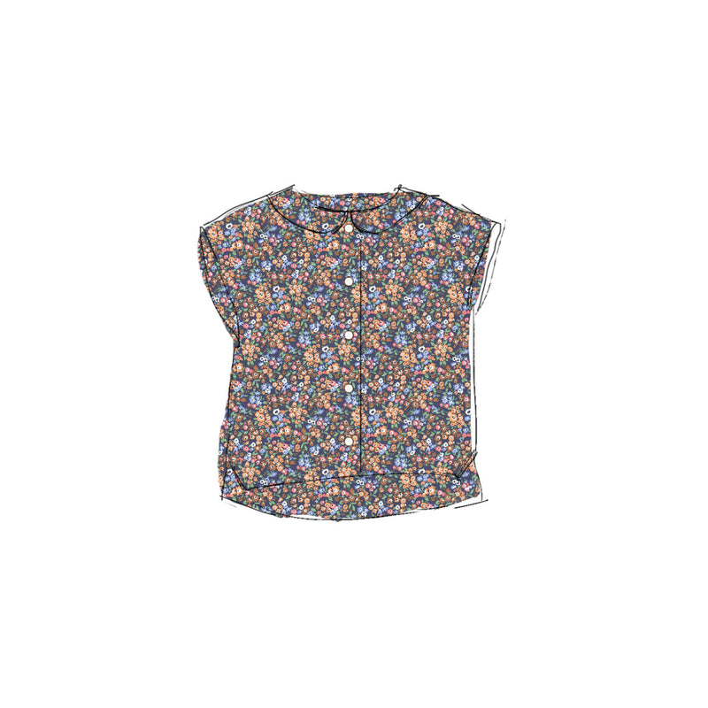 Fall Floral - Boxy Blouse