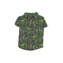 Green Jungle - Boy Button Up Shirt