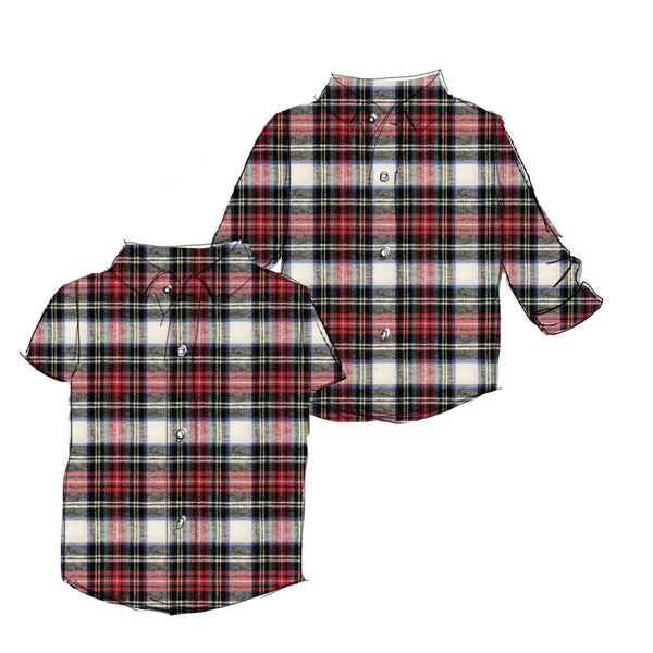 Holiday Flannel - Boy Button Up Shirt