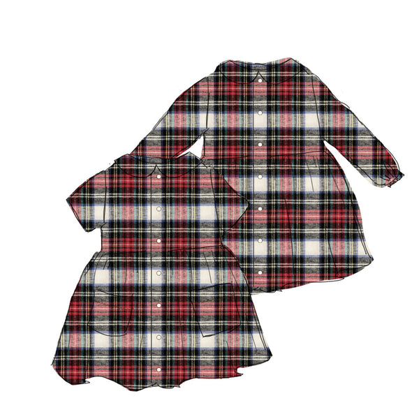 Holiday Flannel - Smock Dress