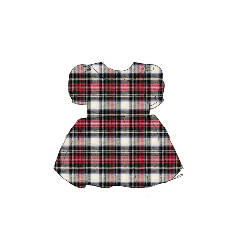 Holiday Flannel - Vintage Style Basque Dress