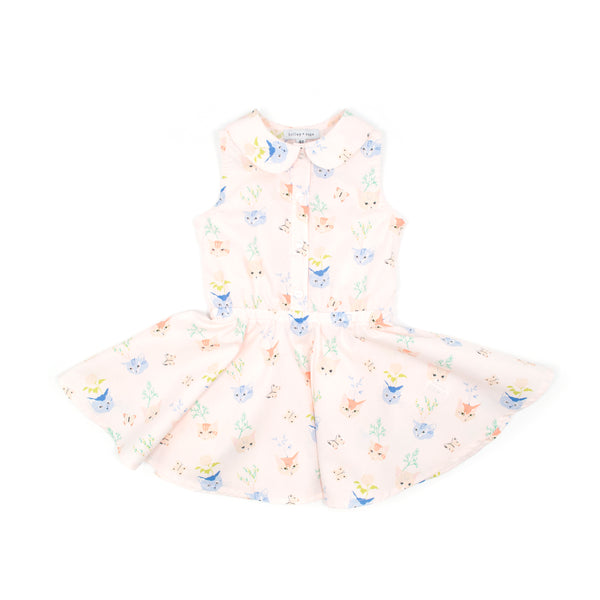 Kitty - Button Front Twirl Dress