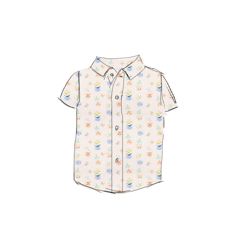 Kitty - Boy Button Up Shirt