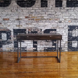 old barn pine desk with drawers