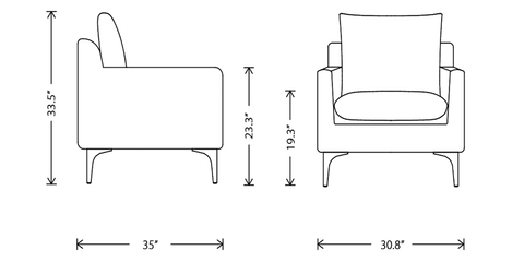 Anders Occassional Chair dimensions