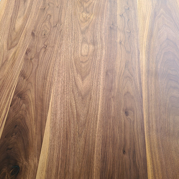 Walnut with a lacquer finish