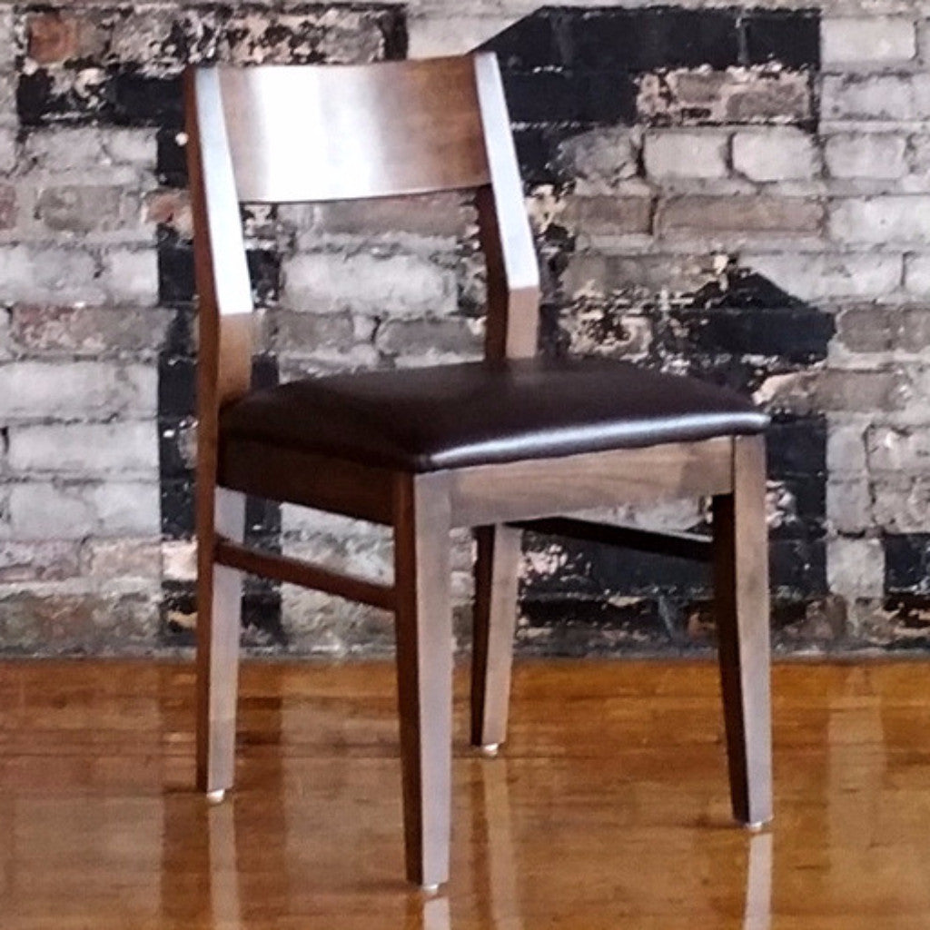 Anthony Dining Chair - Walnut with Upholstered Seat