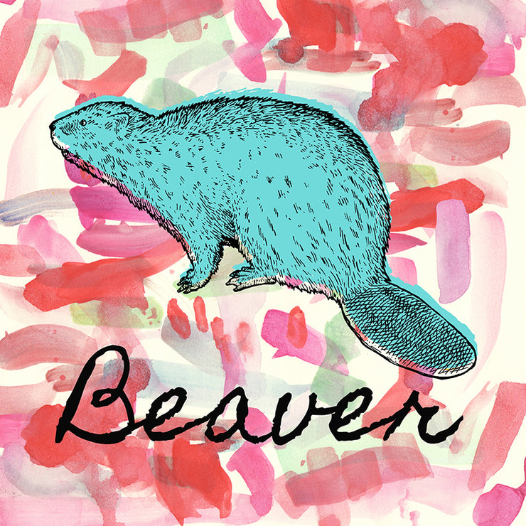 Beaver Pillow by Persnickety Design