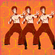 Bruce Lee Pillow by Persnickety Design