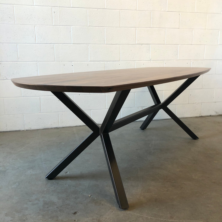 Walnut Squoval Dining Table W/ Special K Base