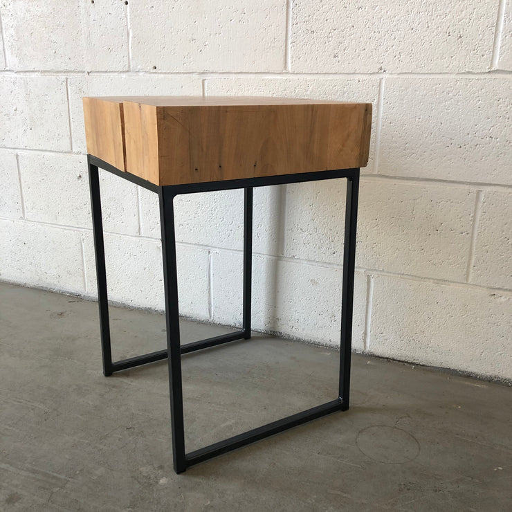 Reclaimed Maple Block Side Table