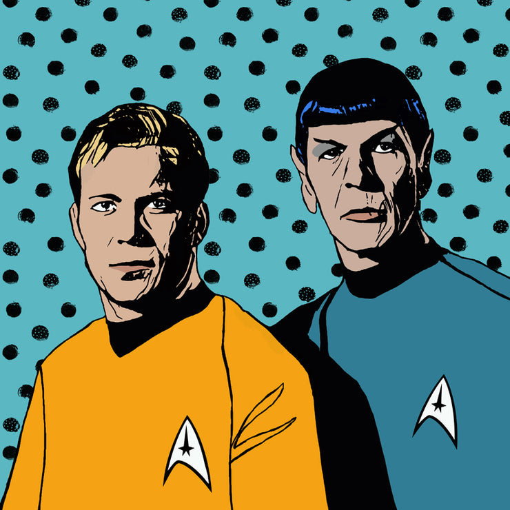 Kirk and Spock Pillow by Persnickety Design