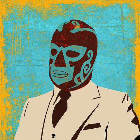 Luchador Pillow by Persnickety Design