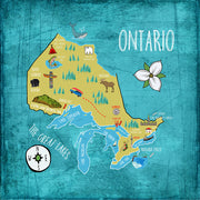 Province Ontario Map Pillow By Persnickety Design