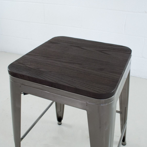 Rochelle Grande Stool With Wood Seat