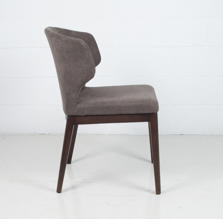 Thurston Fabric Dining Chair With Wood Base